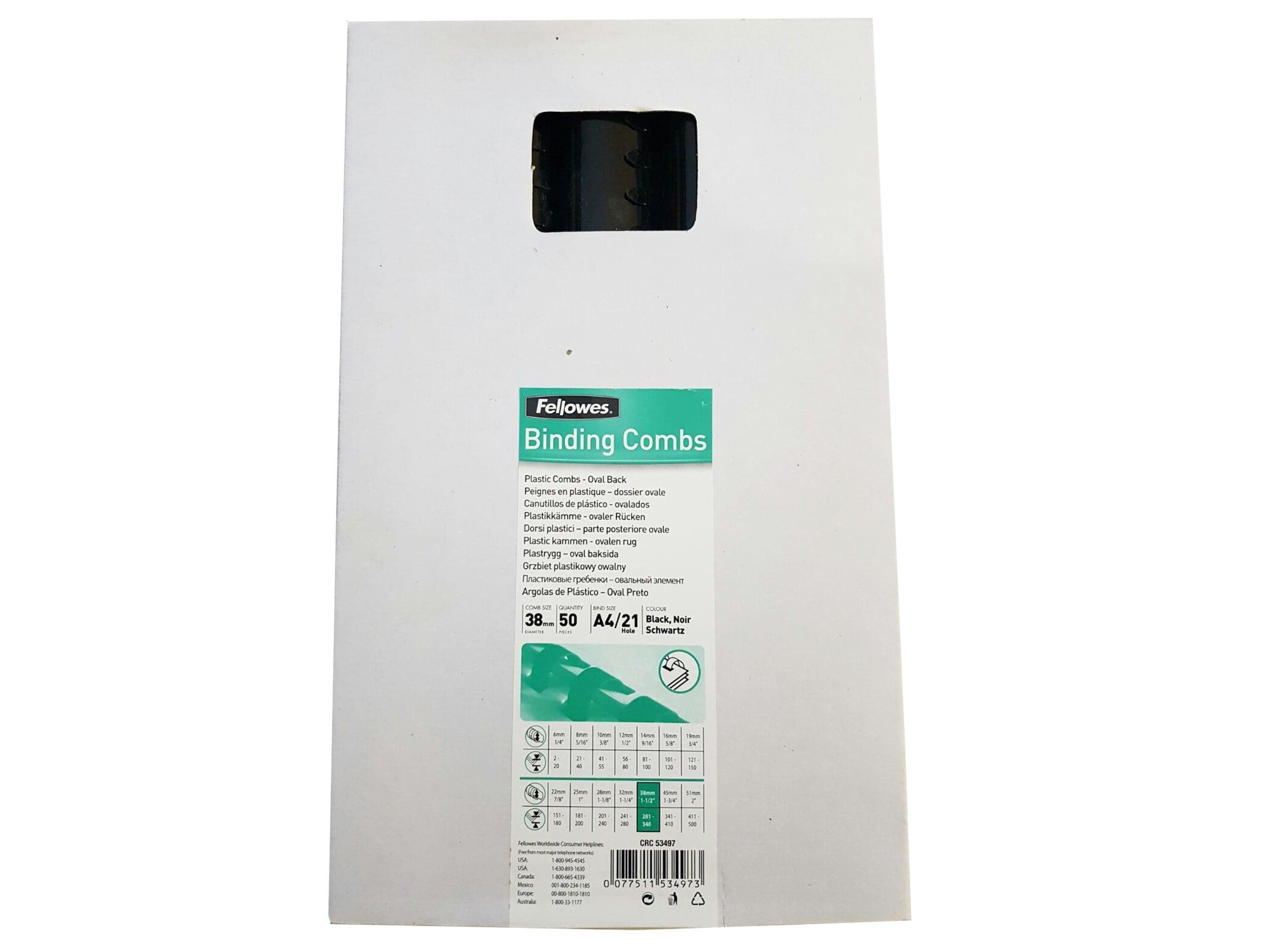 INEL PLASTIC 38MM NEGRU PT. 350 COLI 50/CUT FELLOWES