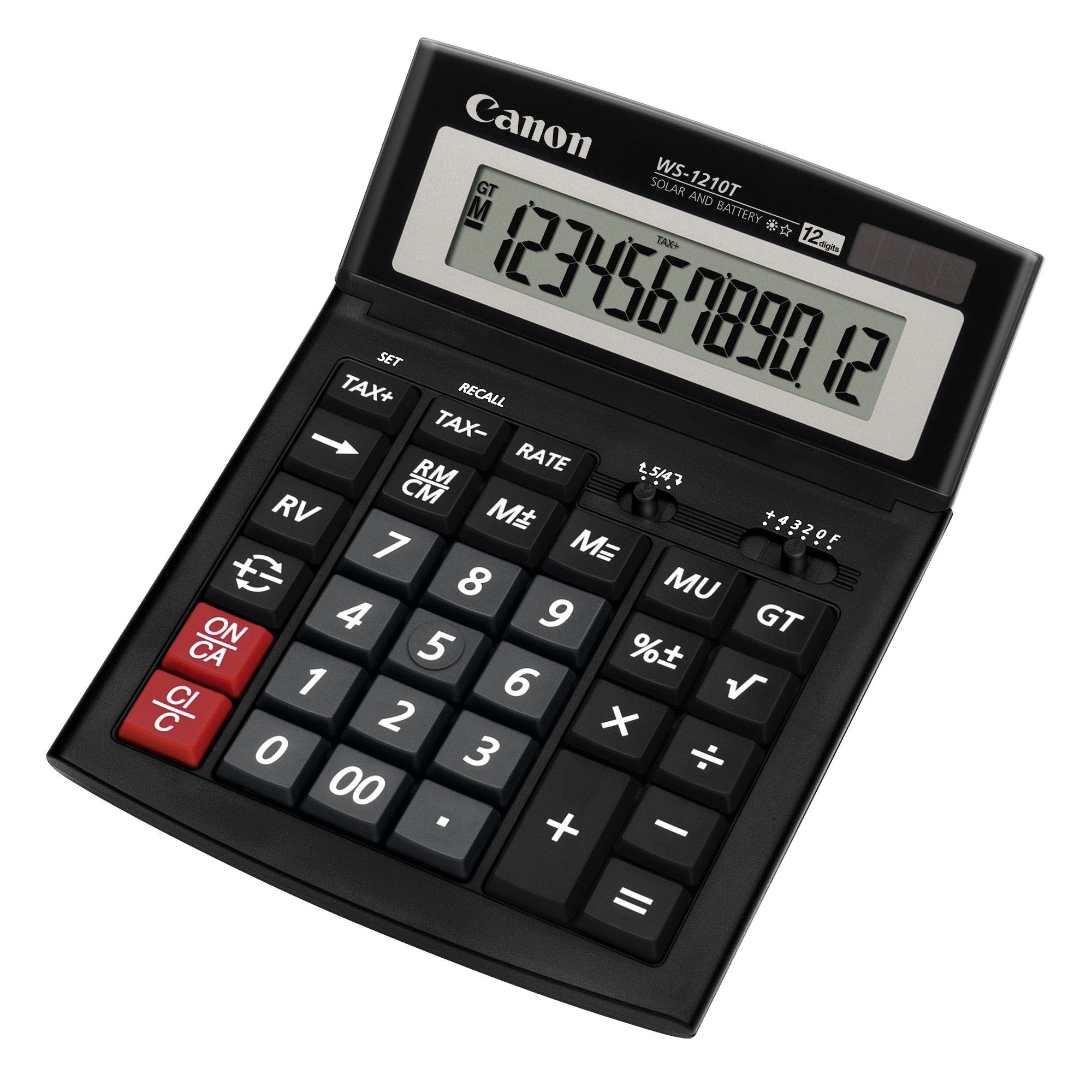 CALCULATOR BIROU 12DIG WS1210T 198X150MM CANON