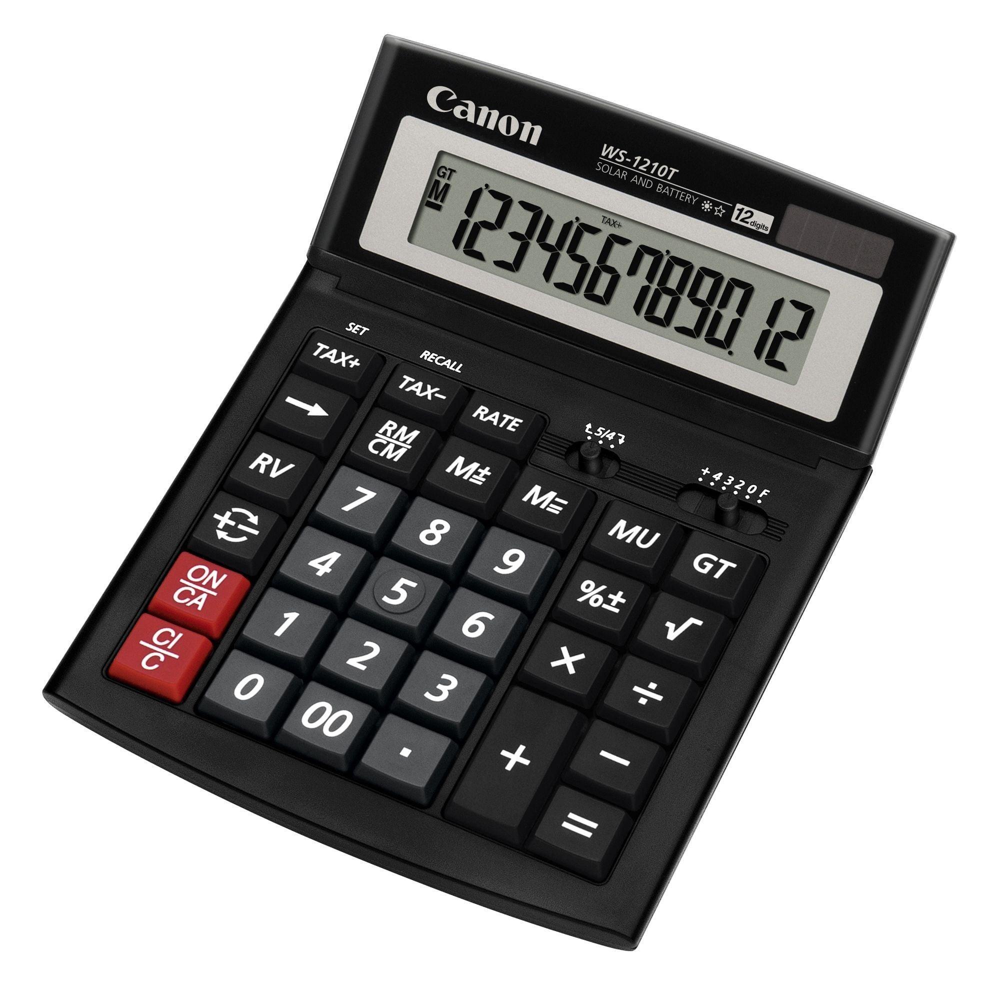 CALCULATOR BIROU 12DIG WS1210T 198X150MM CANON