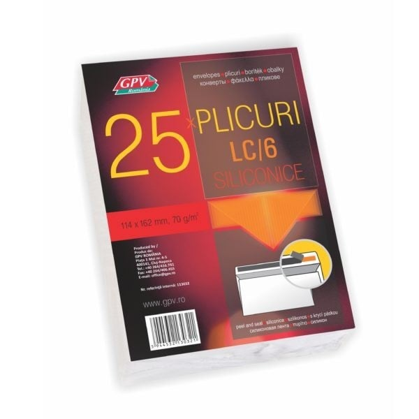 PLIC C6 SILICON 70G 114*162MM ALB 25/S GPV