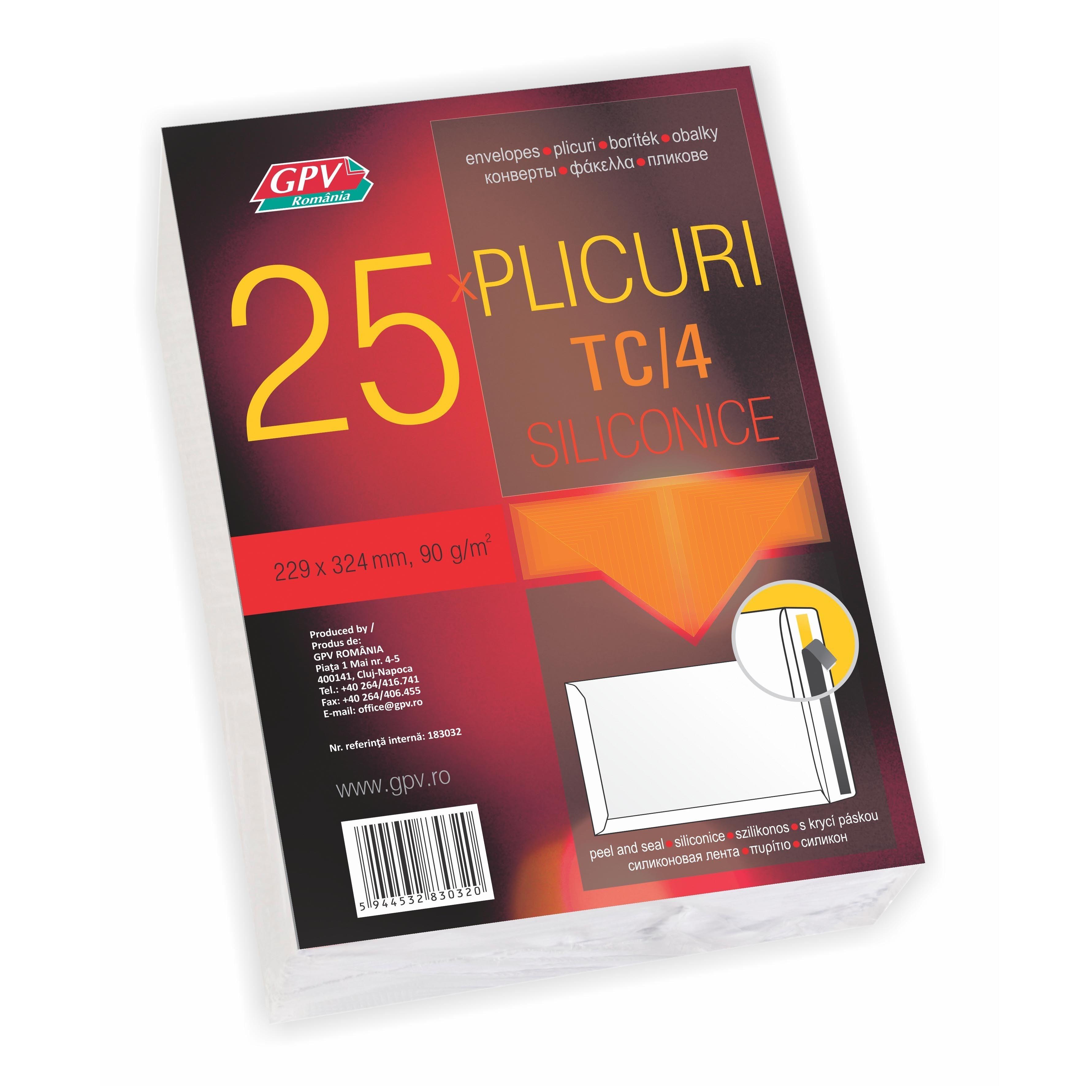 PLIC C4 SILICON 90G 229*324MM ALB TIP T 25/S GPV