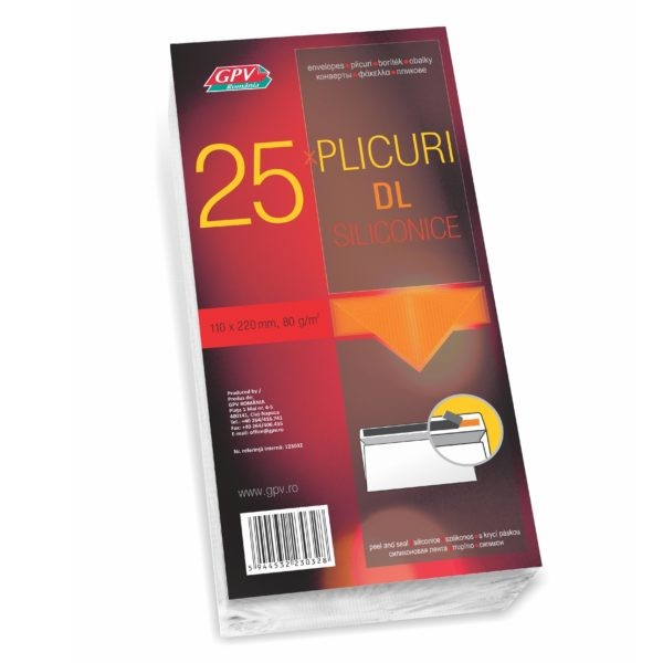 PLIC DL SILICON 80G 110*220MM ALB 25/S GPV