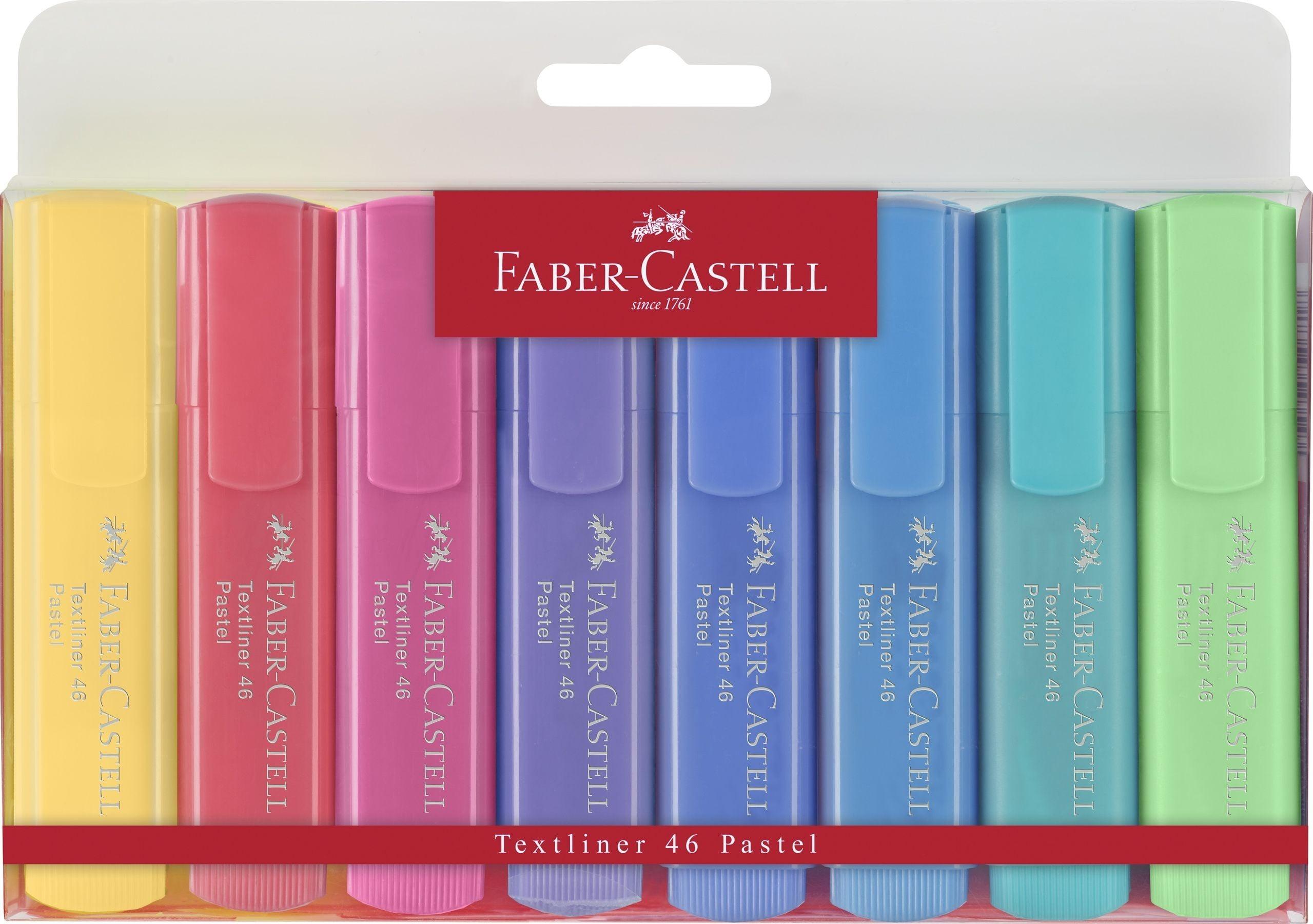 TEXTMARKER SET 8 PASTEL 1546 FABER-CASTELL