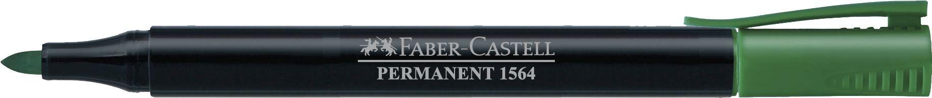 MARKER PERMANENT VERDE SLIM 1564 FABER-CASTELL