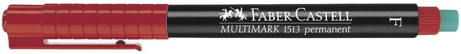 MARKER PERMANENT ROSU F MULTIMARK FABER-CASTELL