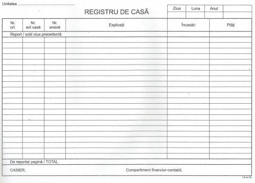 REGISTRU CASA MODEL NOU