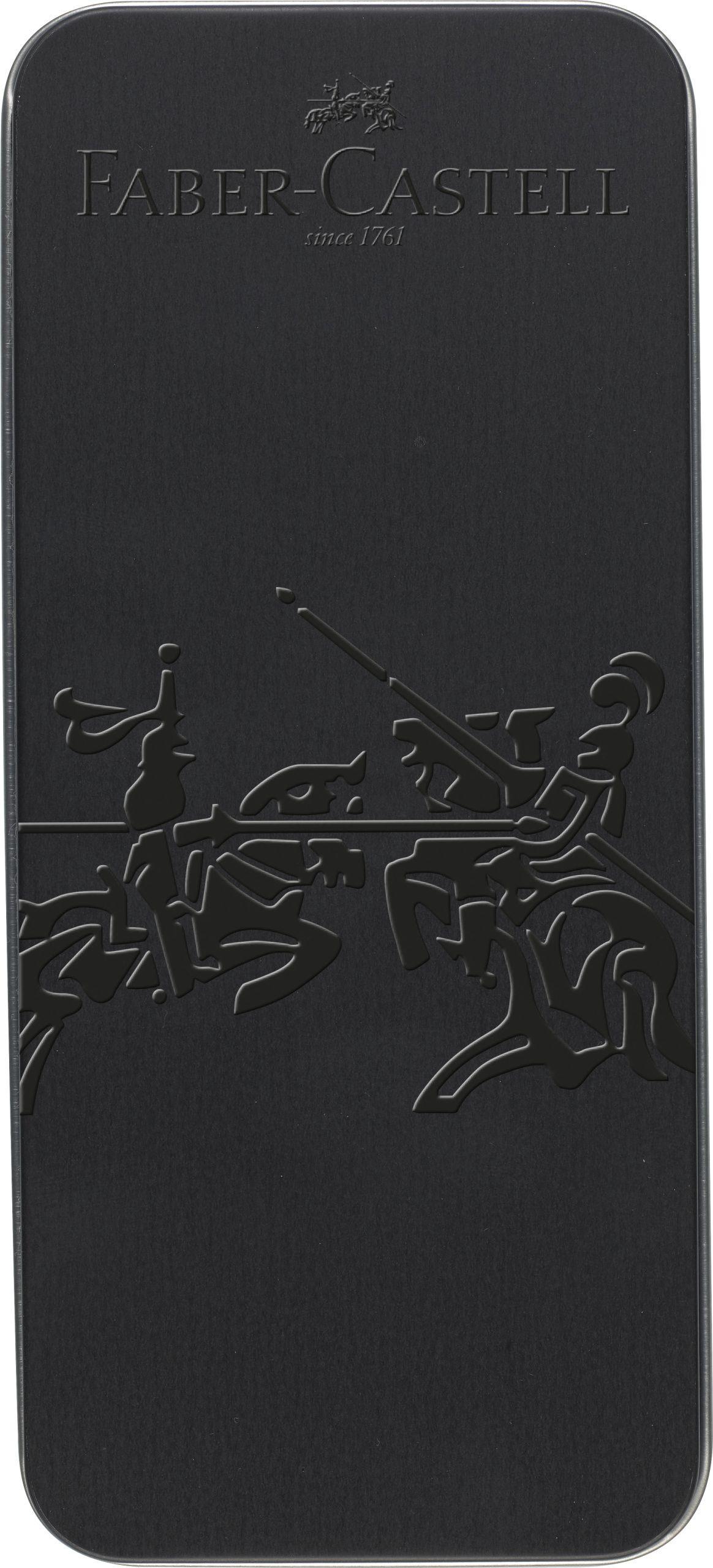 SET CADOU STILOU + PIX GRIP 2011 ALL BLACK FABER-CASTELL
