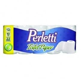 Hartie igienica 2 straturi x10 role Perletti