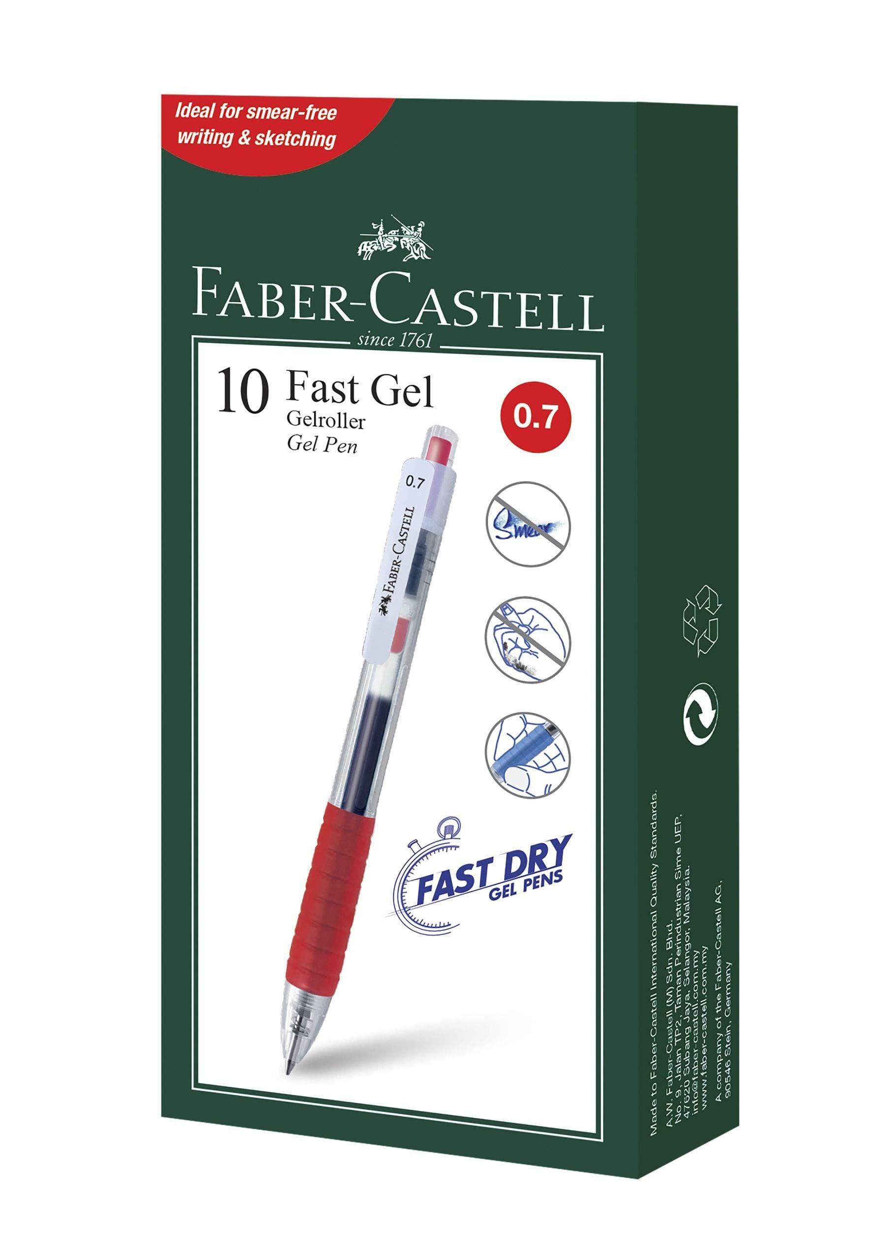 PIX CU GEL 0.7MM FAST GEL ROSU FABER-CASTELL