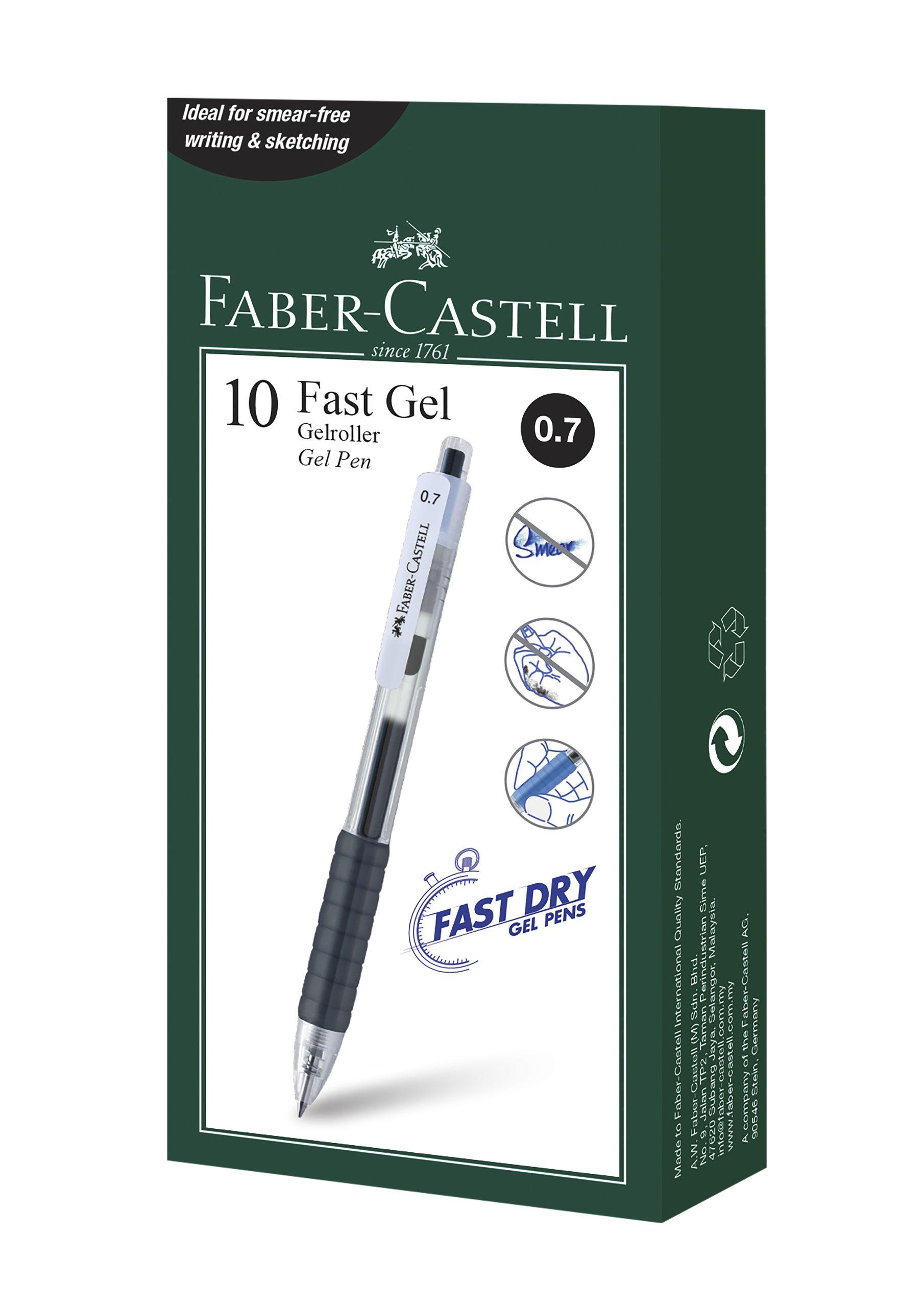 PIX CU GEL 0.7MM FAST GEL NEGRU FABER-CASTELL