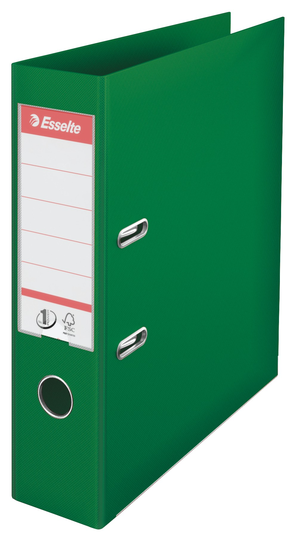 BIBLIORAFT PLASTIFIAT INT-EXT 7.5CM VERDE NR1 POWER ESSELTE