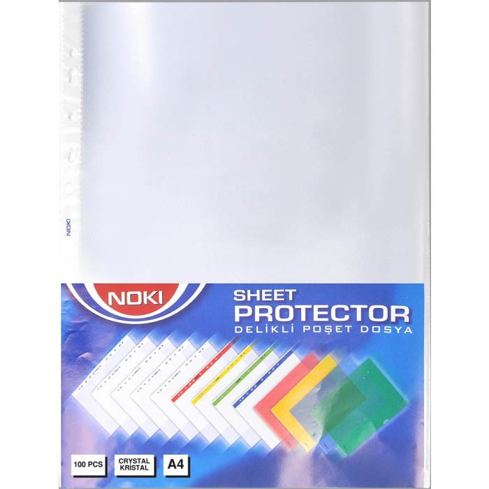FOLIE PROTECTIE A4 CRISTAL 45 MIC 100/SET NOKI