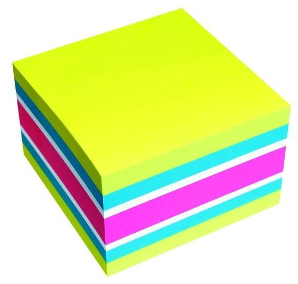 Cub notite adezive 75x75mm 450 file briliant yellow Info Notes