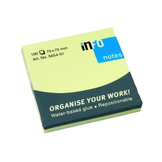 Notes adeziv 75x75mm 100 file Info Notes