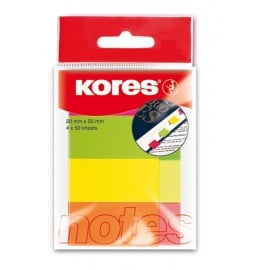 NOTES ADEZIV 20*50MM 4 CULORI*50 FILE KORES