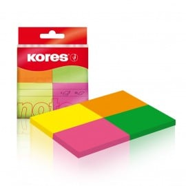 NOTES ADEZIV 40*50MM 4 CULORI NEON*50 FILE KORES